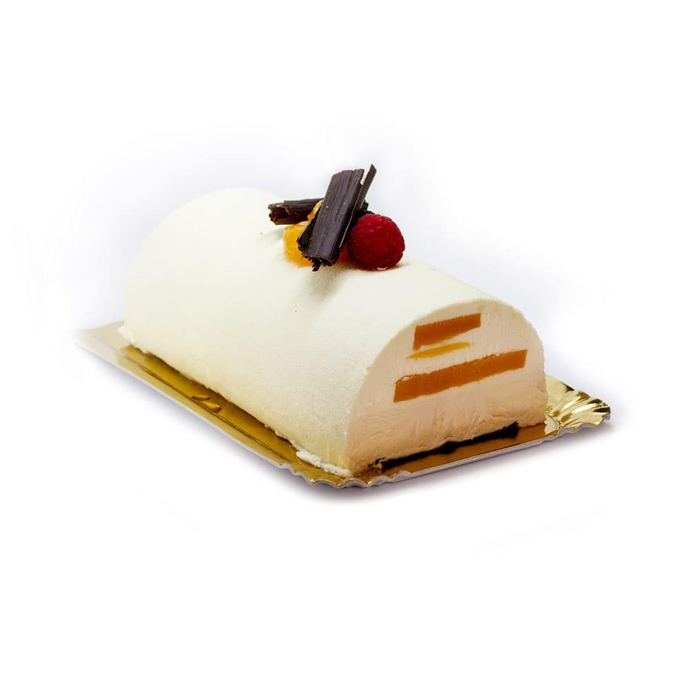 Tarta de Chocolate Blanco con Maracuyá