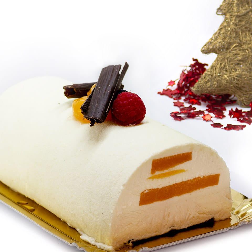 Mousse de chocolate blanco con maracuyá